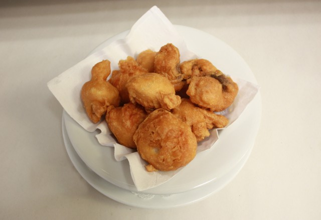Deep Fried Mushrooms at Fancy's in Barrie!