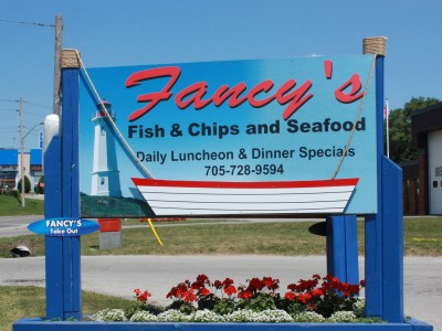 Fancy's Fish and Chips Restaurant at 5 Bellfarm Road in Barrie! For reservations or takeout call 705-728-9594.