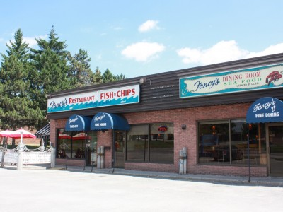 Fancy's Fish and Chips Restaurant at 5 Bellfarm Road in Barrie!